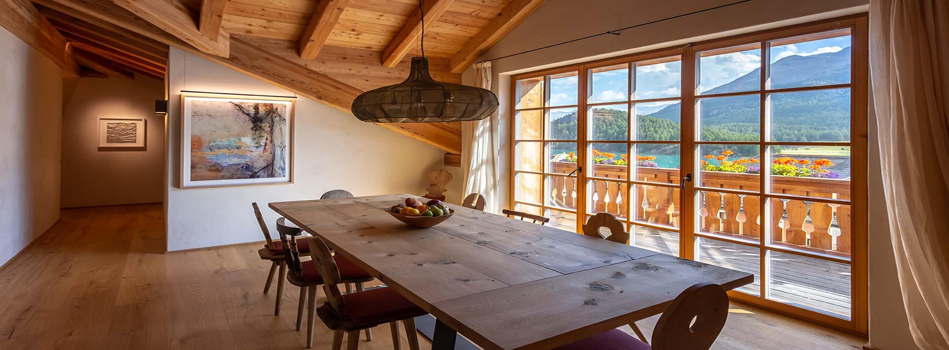Progetto immobiliare - immagine salotto - Sonne Silvaplana